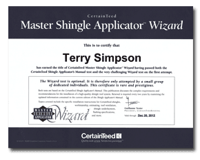 Master Shingle Applicator Wizard